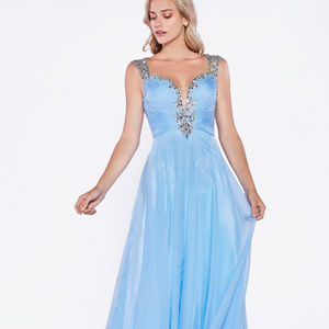 Jeweled Long Prom Dress CDC286